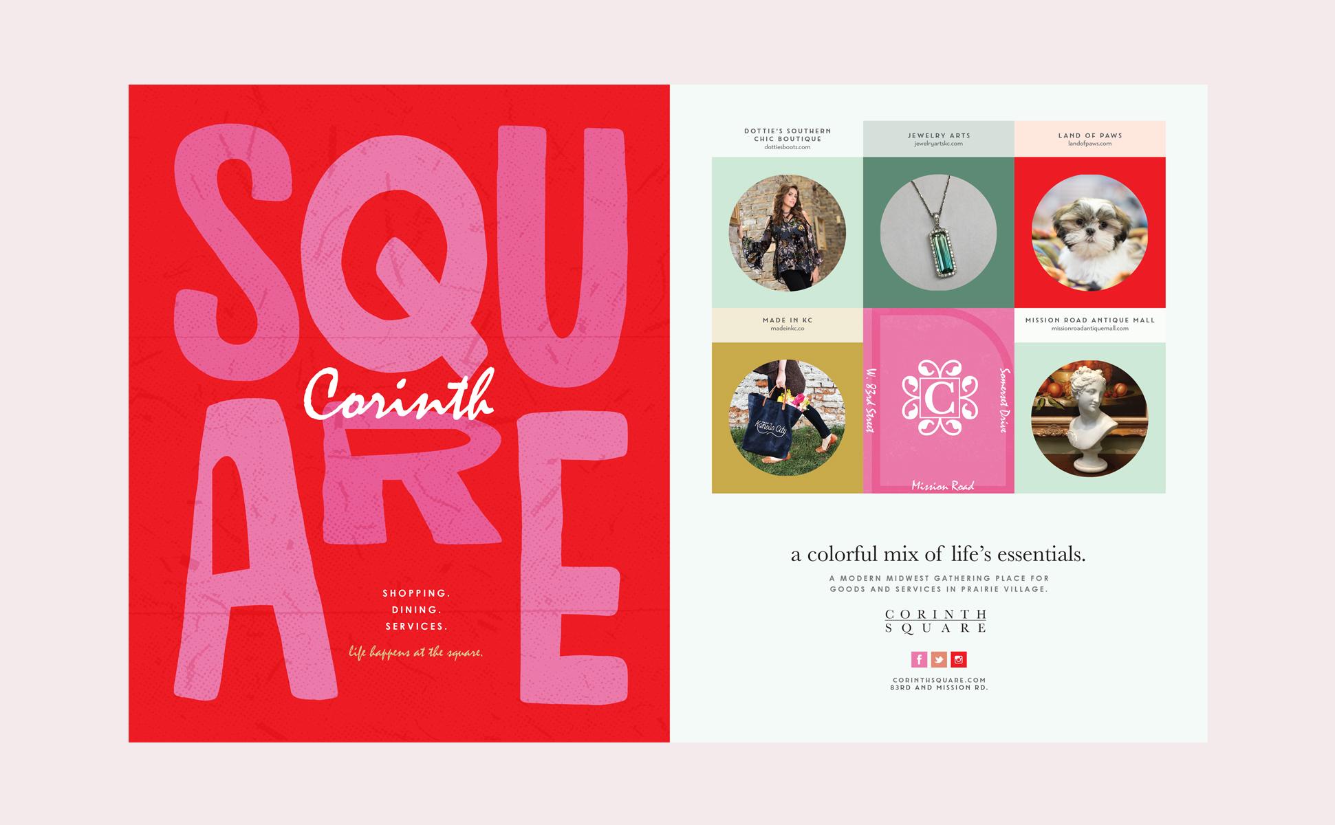 Corinth Square Rebrand Campaign