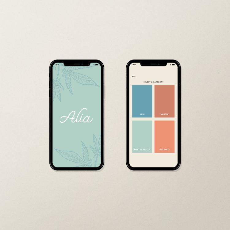 Alia Cannabis Mobile App Design/Branding