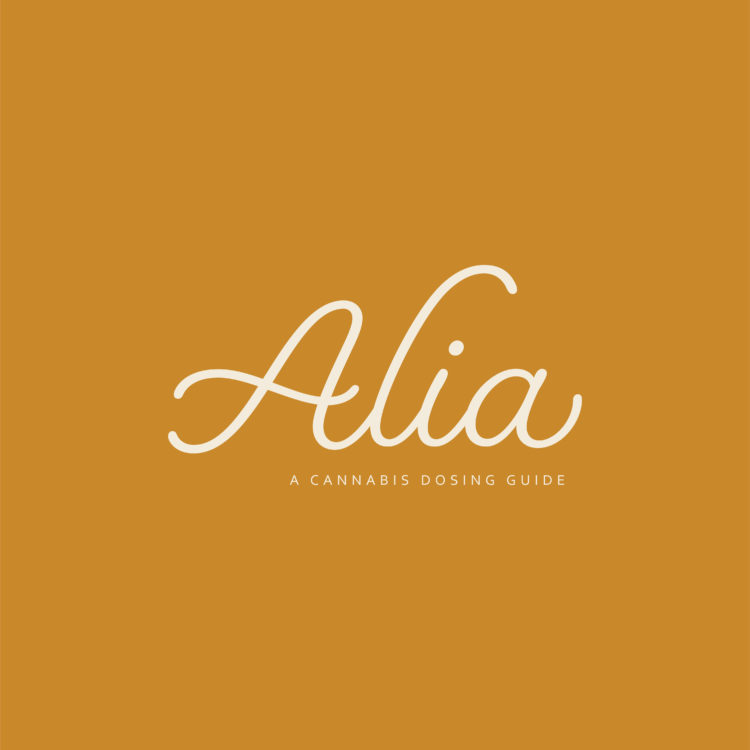 Alia Cannabis Logo + App Design/Branding
