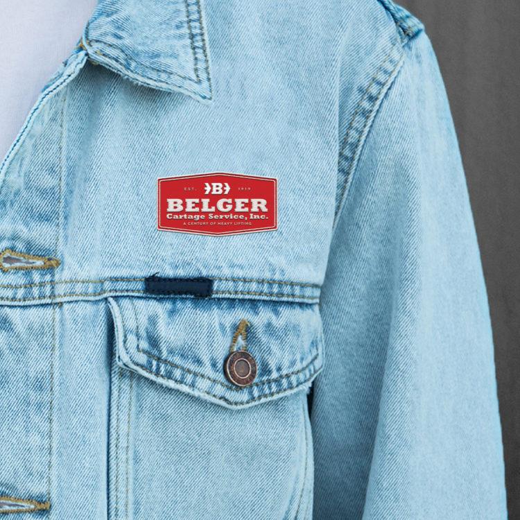 Belger Cartage Service Logo on Jean Jacket