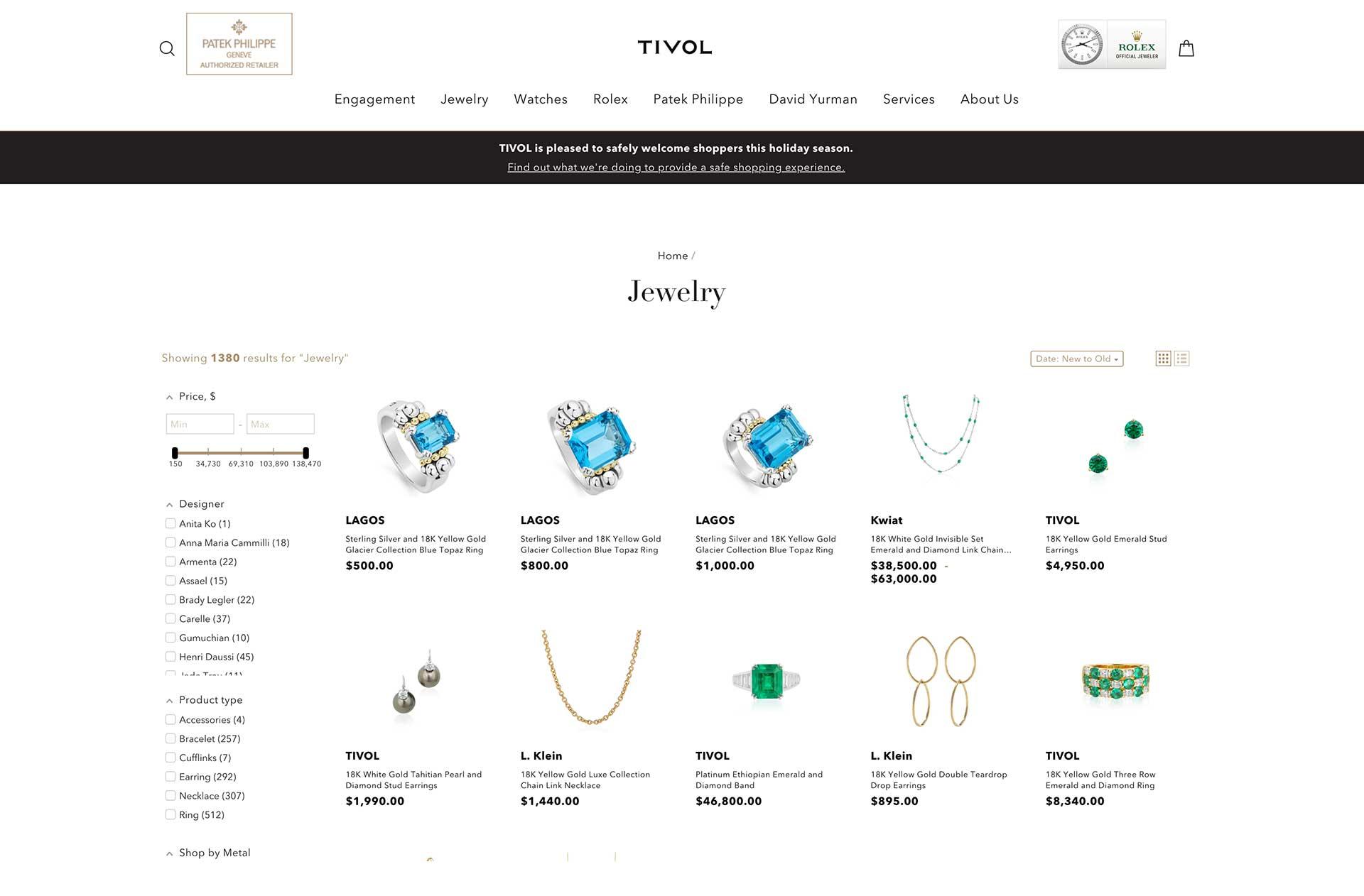 Tivol Jewelry Store Front